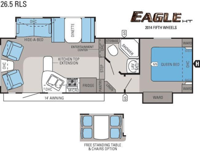 Unique The Fun Starts In Your Awesome Front Master Suite Of The 2016 Eagle 318RETS! Youll Appreciate The Simple Comfort That This Space Has To Offer, With Relaxing Features Such As Step Out Into The Charming Central Kitchen Of The Eagle