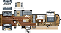 2019 Jayco North Point 375BHFS Fifth Wheel